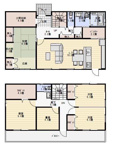 44坪5ldk子供部屋を後から仕切る間取り 新築間取り 間取り 40坪