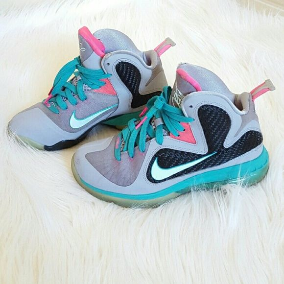 Nike Air Zoom Lebron 9 South Beach Miami Vice 6 Authentic