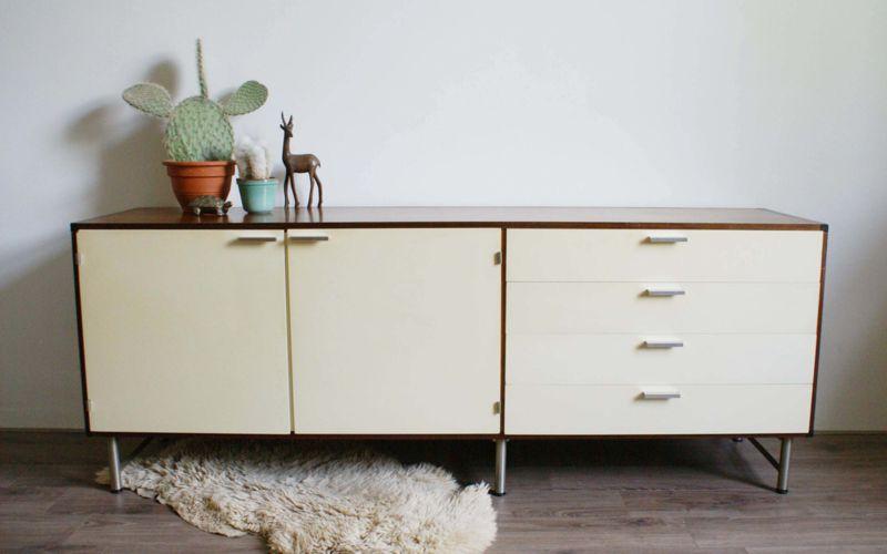 Retro Design Kastje : Vintage dressoir van cees braakman voor pastoe. retro design kast