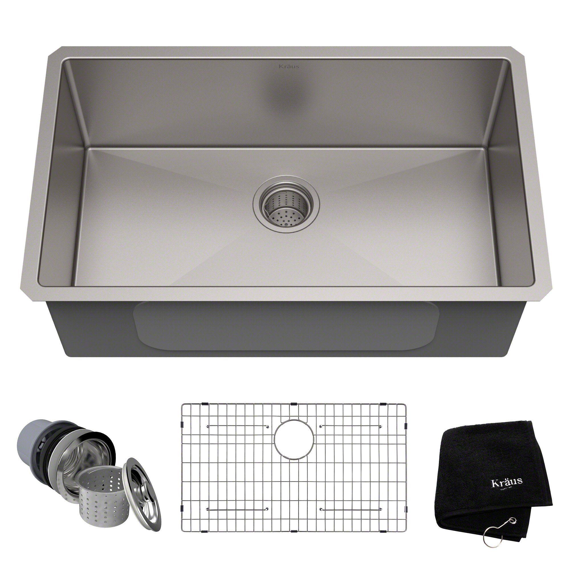 Kraus Khu100 30 Kitchen Sink 30 Sink Stainless Steel Kitchen Sink Stainless Steel Kitchen