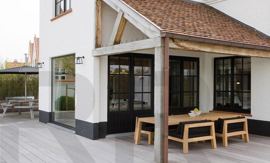 Super kleuren combinatie en mooie overkapping huis buitenkant idee r pinterest verandas - Huis buitenkant ...