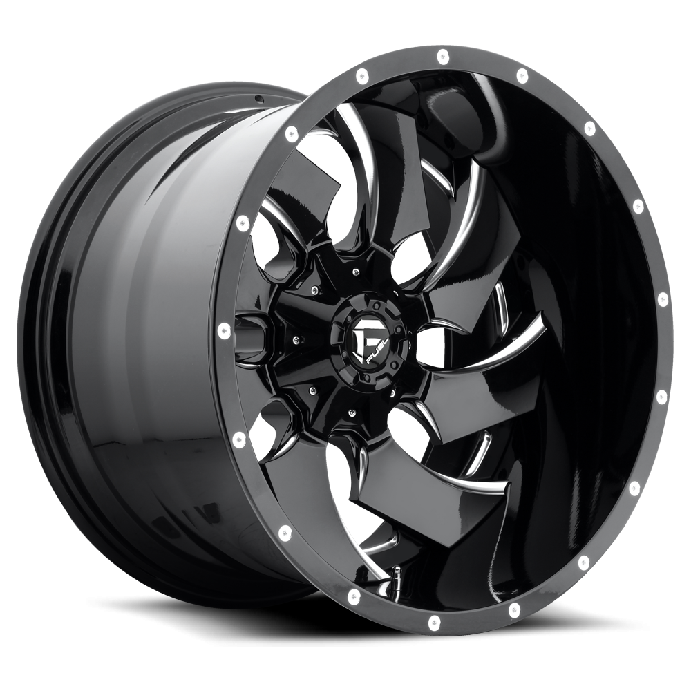 4 new fuel cleaver black milled wheels rims