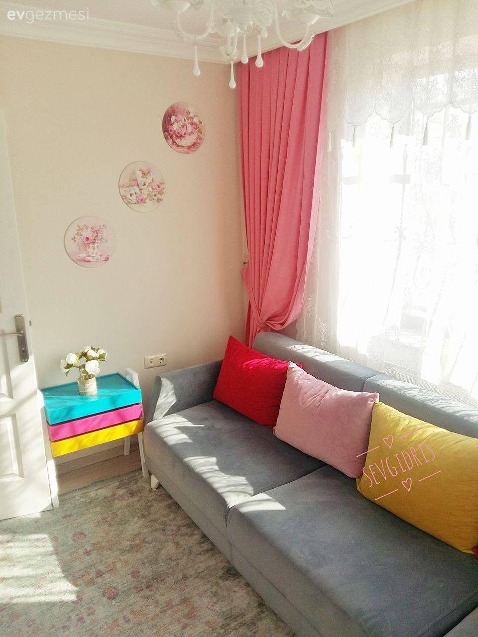Evlerde bahar renkleri dekorasyonu