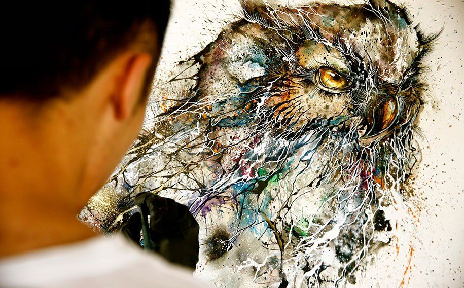 coruja aquarela - Google Search