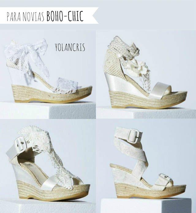 cuñas novias zapatos boda wedding shoes | zapatos y vestidos ...