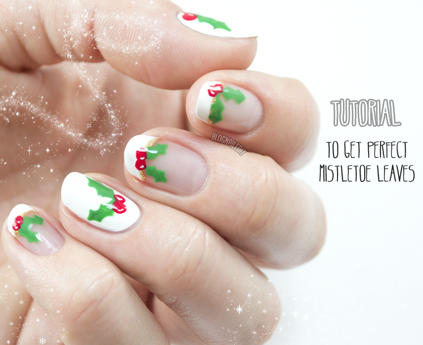 Mistletoe mani tutorial tutorials by katy pinterest easy nail art mistletoe mani tutorial prinsesfo Image collections