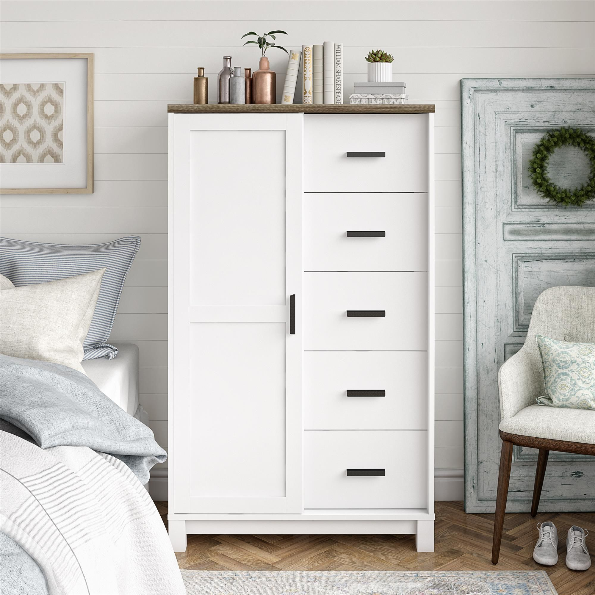 Ameriwood Home Bay Hills Gentlemen S Chest White Walmart Com Furniture White Chests Bedroom Decor [ 2000 x 2000 Pixel ]