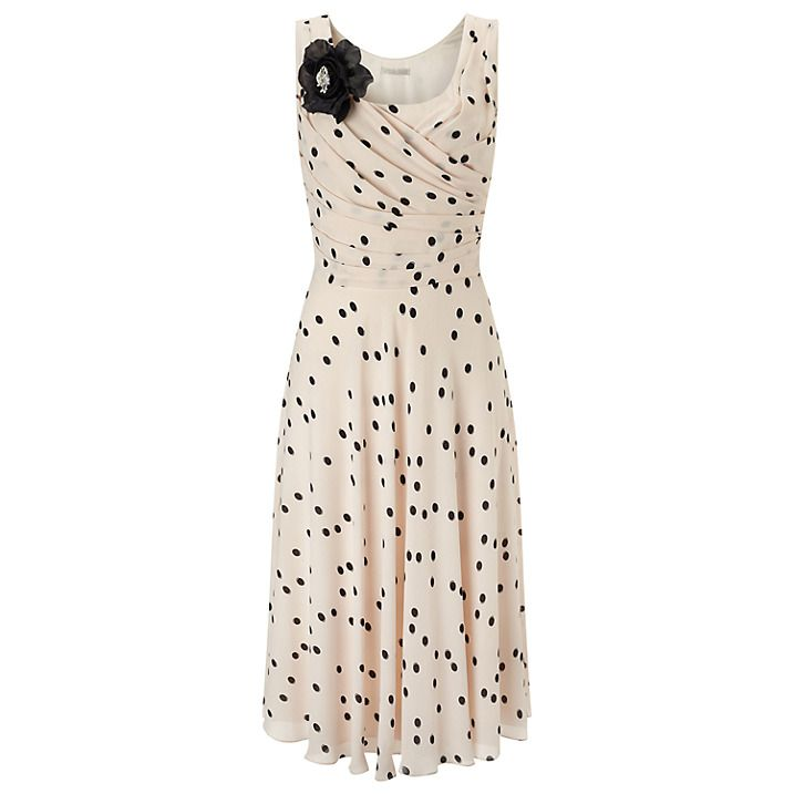 Buy Jacques Vert Spot Print Dress, Cream, 8 Online at johnlewis.com ...
