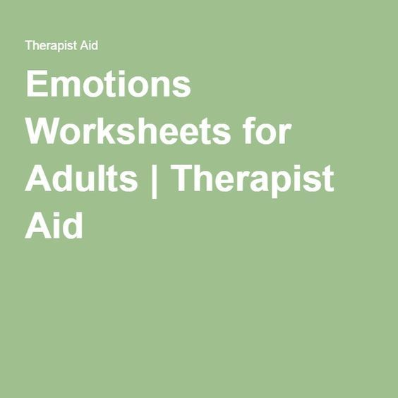 Emotions Worksheets For Adults Therapist Aid Sensory Processing