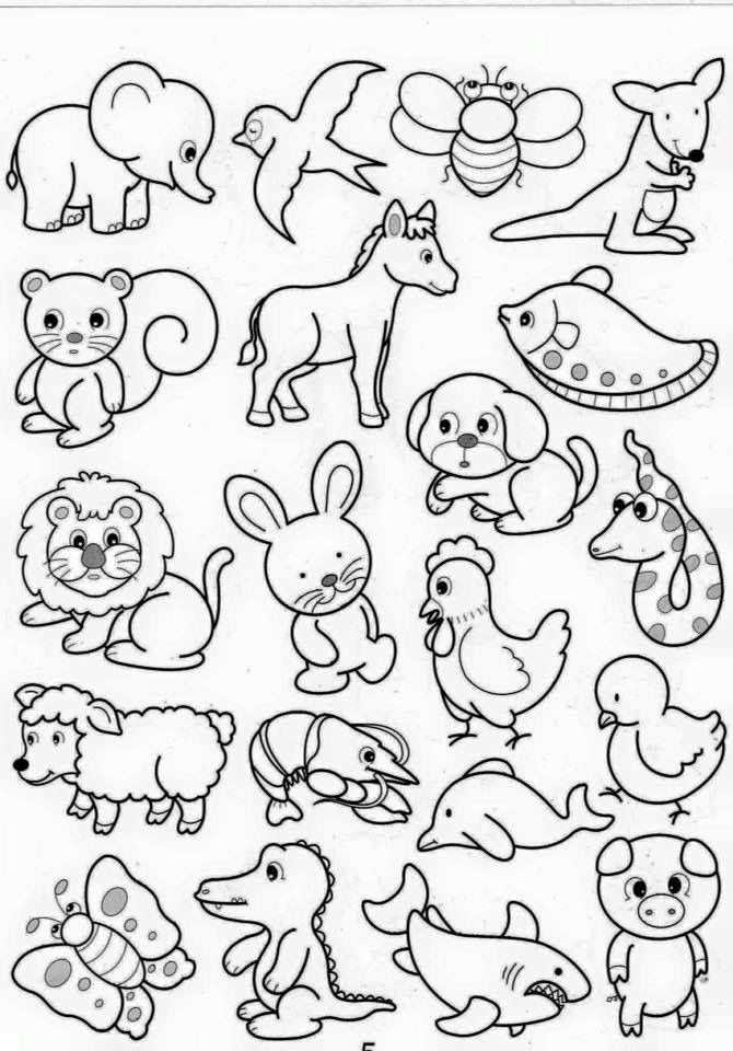 Pin De Mari En Patchwork Dibujos De Animales Dibujos Faciles Y