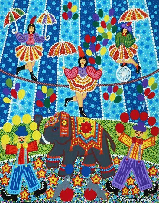 Alegria alegria o circo chegou de ernane cortat ernane for Pinterest obras de arte