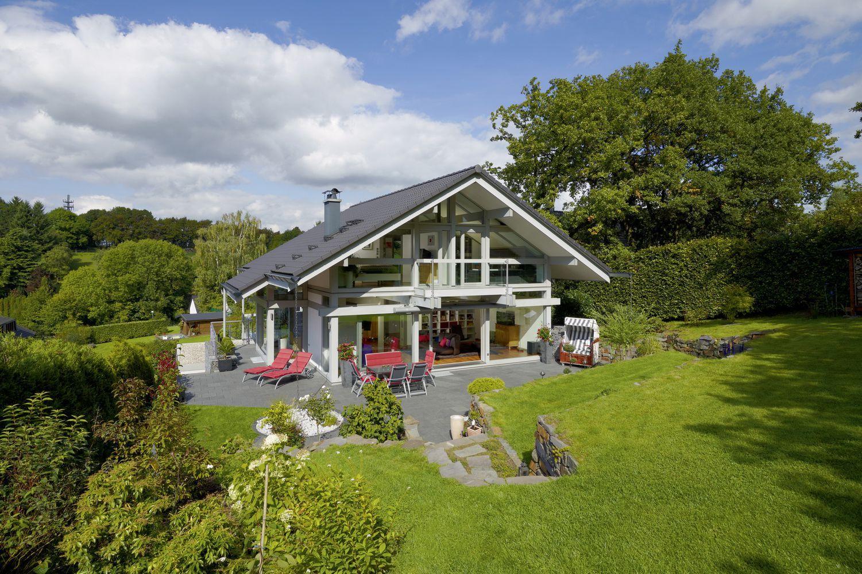 HUF Traumhaus Fachwerkarchitektur Fertigbau aus Holz und
