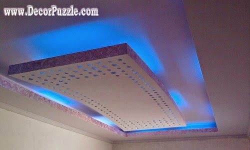 Latest Suspended Ceiling Pop False Ceiling Design Led