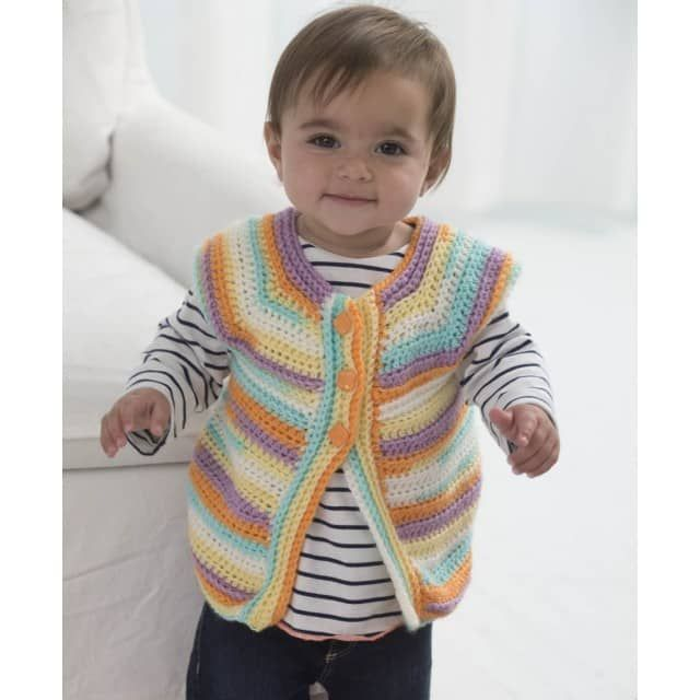 One Ball Wonder Vest Crochet Lion Brand Yarn Crochet Patterns