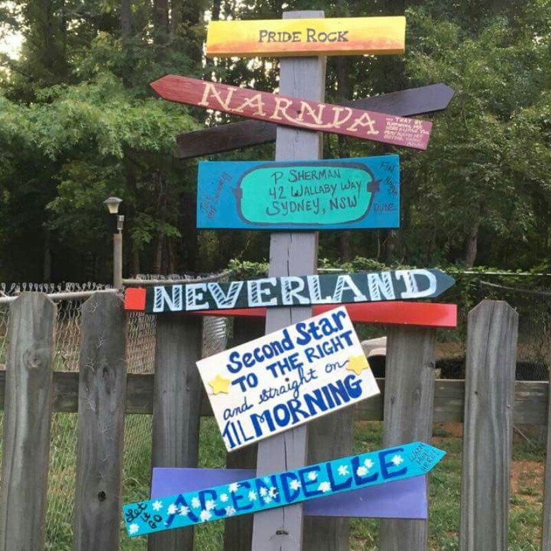 Disney Inspired Directional Sign. This was a true Labor of ...