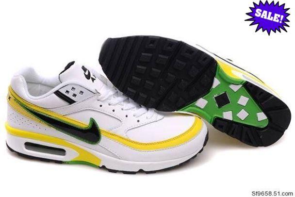 new concept 69779 8ffa1 XXBD 696017 Blanc Jaune Vert Homme Chaussure Nike Air Max BW 2014