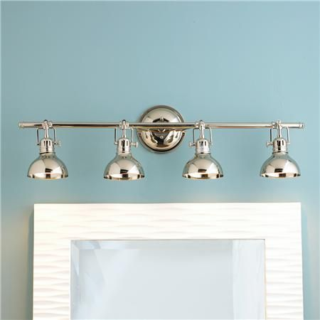 Pullman Bath Light 4 Light Bath Light Nickel Light Fixtures