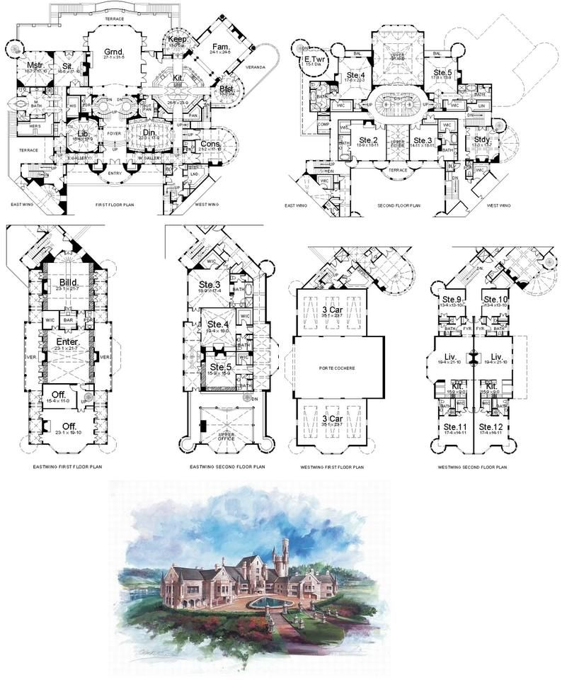9 best ideas about mansion floor plans on Pinterest House design