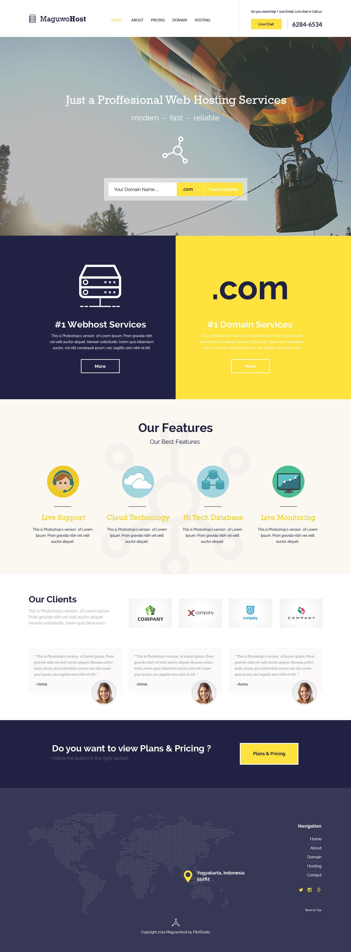 Maguwohost - FREE Hosting Template | FreeTemplates.Pro | Pinterest
