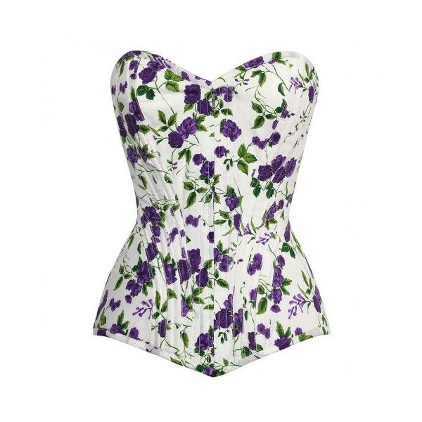 Ninon Cotton Front Zipper Corset - Sunshine Range - CORSET - WOMEN ❤ liked on Polyvore