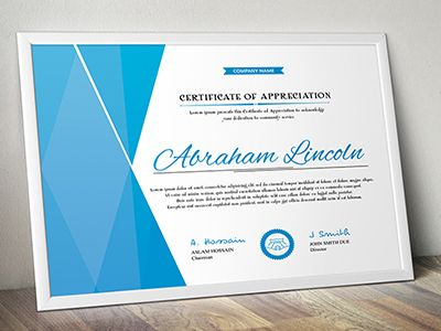 Simple Multipurpose Certificate GD012 Certificate - Creative Certificate Designs