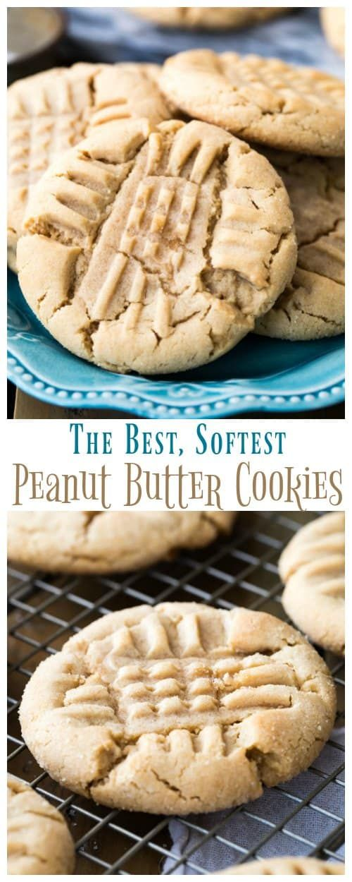 Buttery soft PEANUT BUTTER COOKIES! These use all butter and no shortening, everyone wants the recipe!!