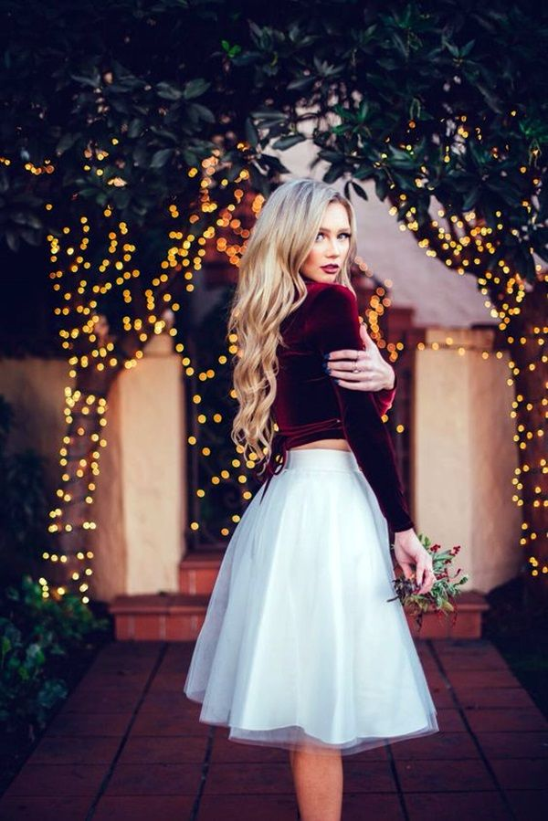<3 Tulle Skirt Outfits <3 Would Love to adopt this for this Christmas <3 - Keep The Style On With These 30 Tulle Skirt Outfits Fashion Enzyme