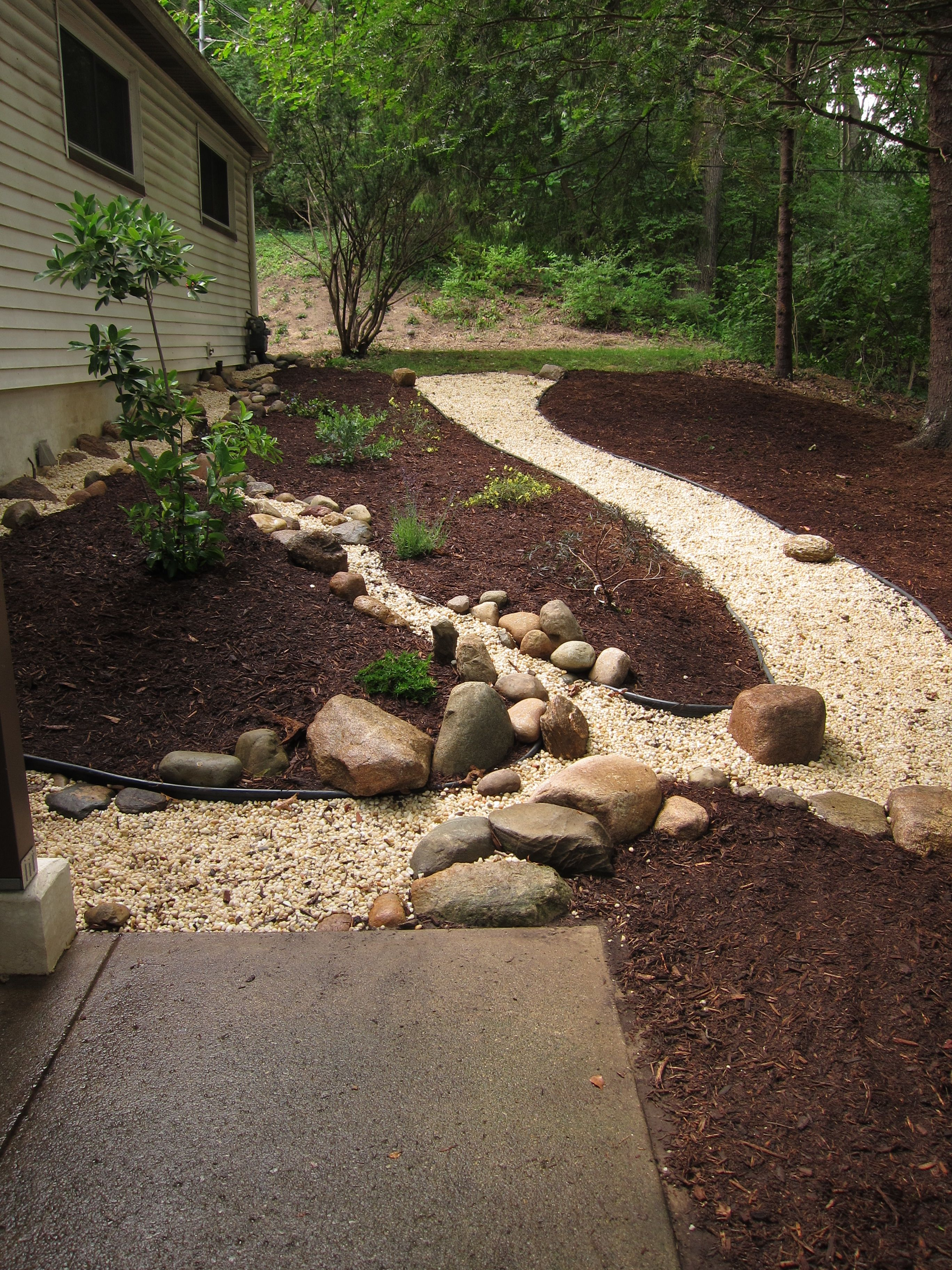 solution for drainage issues perc pipe lots of gravel