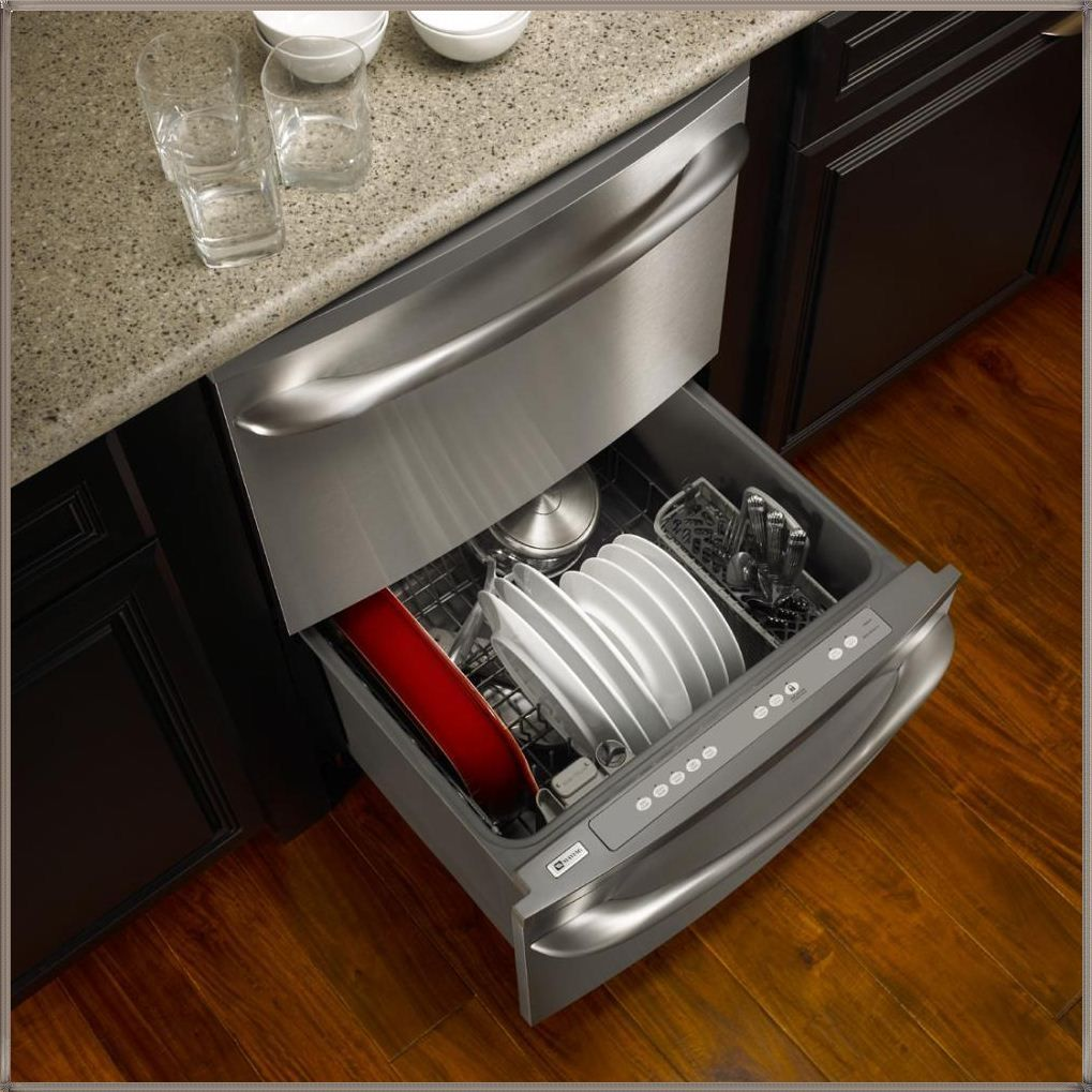stainless front dishwasher drawers of drawer reviews ge with control lovely two steel