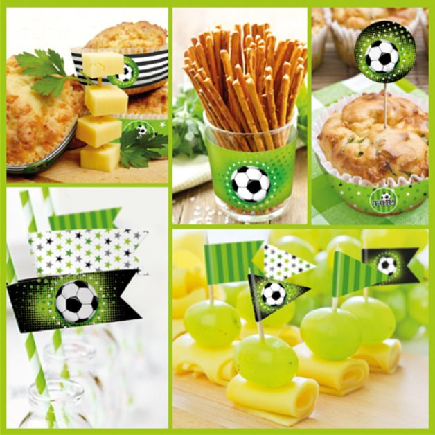 fu ball diy partyset sport spiel und fu ball pinterest fu ball fussball geburtstag. Black Bedroom Furniture Sets. Home Design Ideas