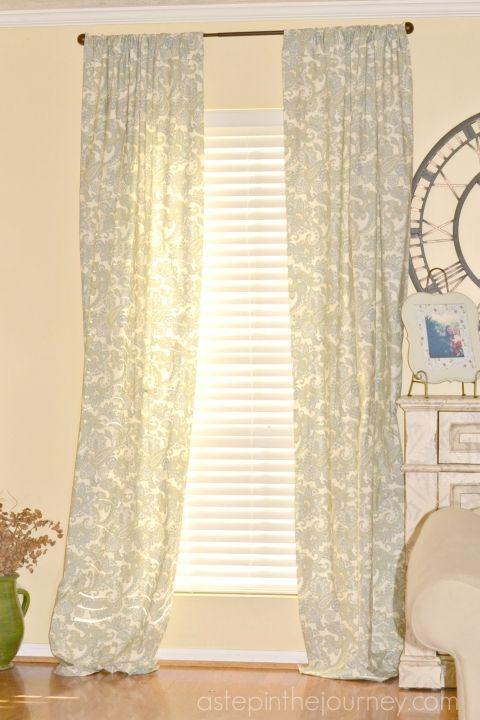 Fabulous Curtains from a Twin Size Sheet! | Nähen