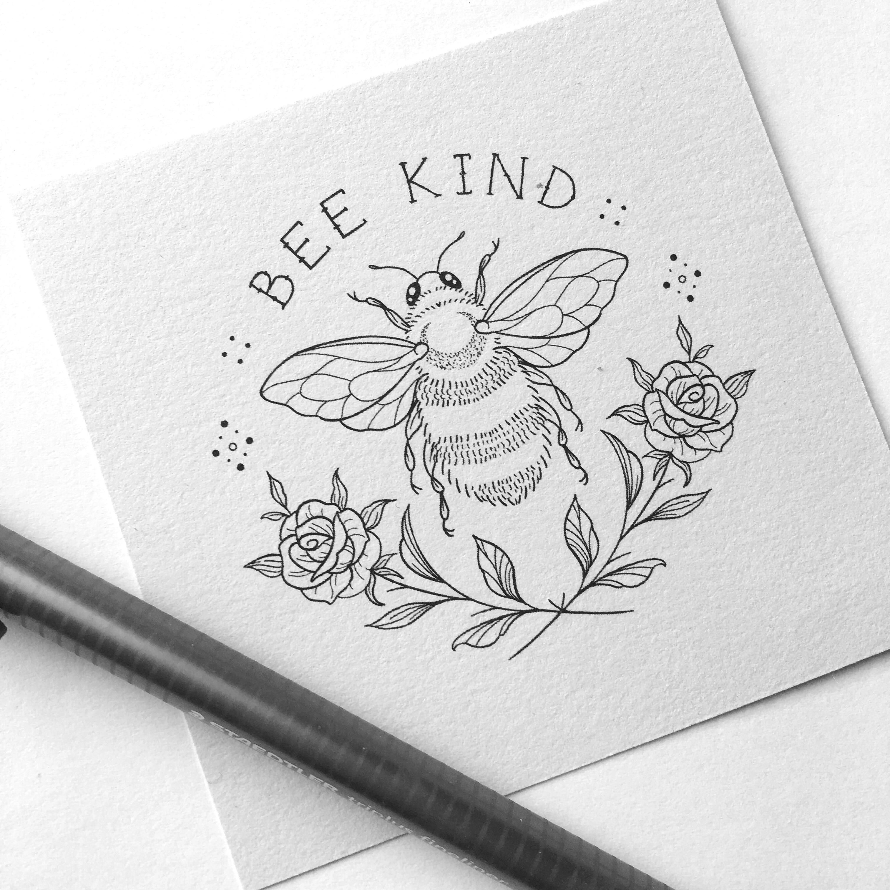 Bee Kind Bee Drawing Bee Art Bee Tattoo