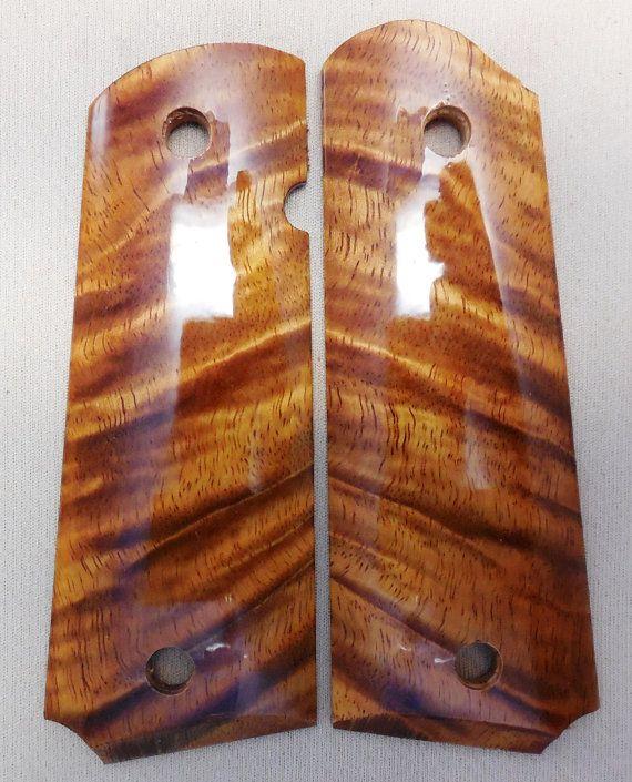 1911 Custom Made Pistol Grips - Beautiful Hawaiian Curly Koa - Also