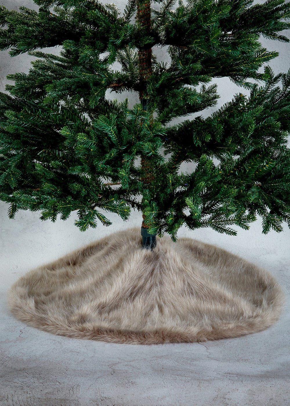 Faux fur christmas tree skirt 40cm tree skirts and christmas tree faux fur christmas tree skirt 40cm falaconquin