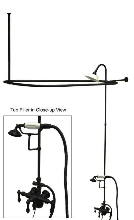 View the Kingston Brass CCK314AL Vintage Leg Tub Kit with Faucet