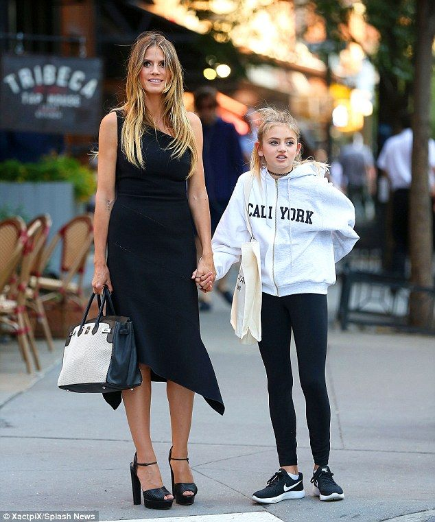 Heidi Klum Runs Errands With Mini-me Daughter Leni In NYC