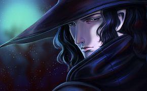 Wallpaper vampire hunter d, a dhampir, a half-breed, vampire, anime, face