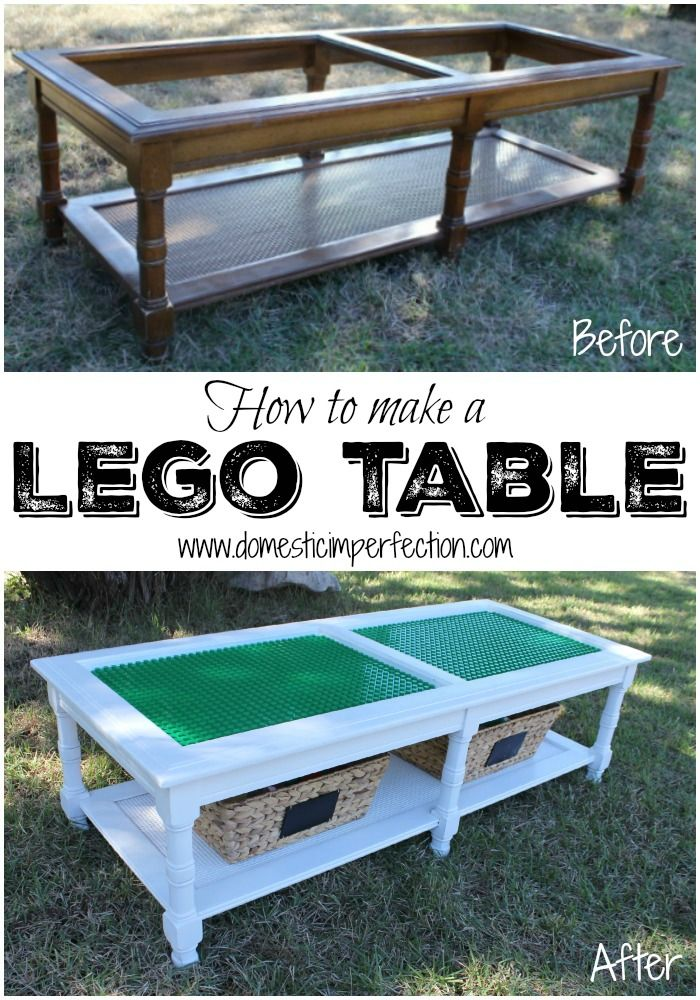 How To Turn An Old Coffee Table Or Anything Really Into A Lego Tutorial Includes Easy Method For Cutting Baseplates