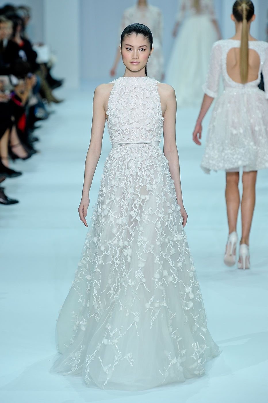 Elie saab at couture spring catwalk spring and couture