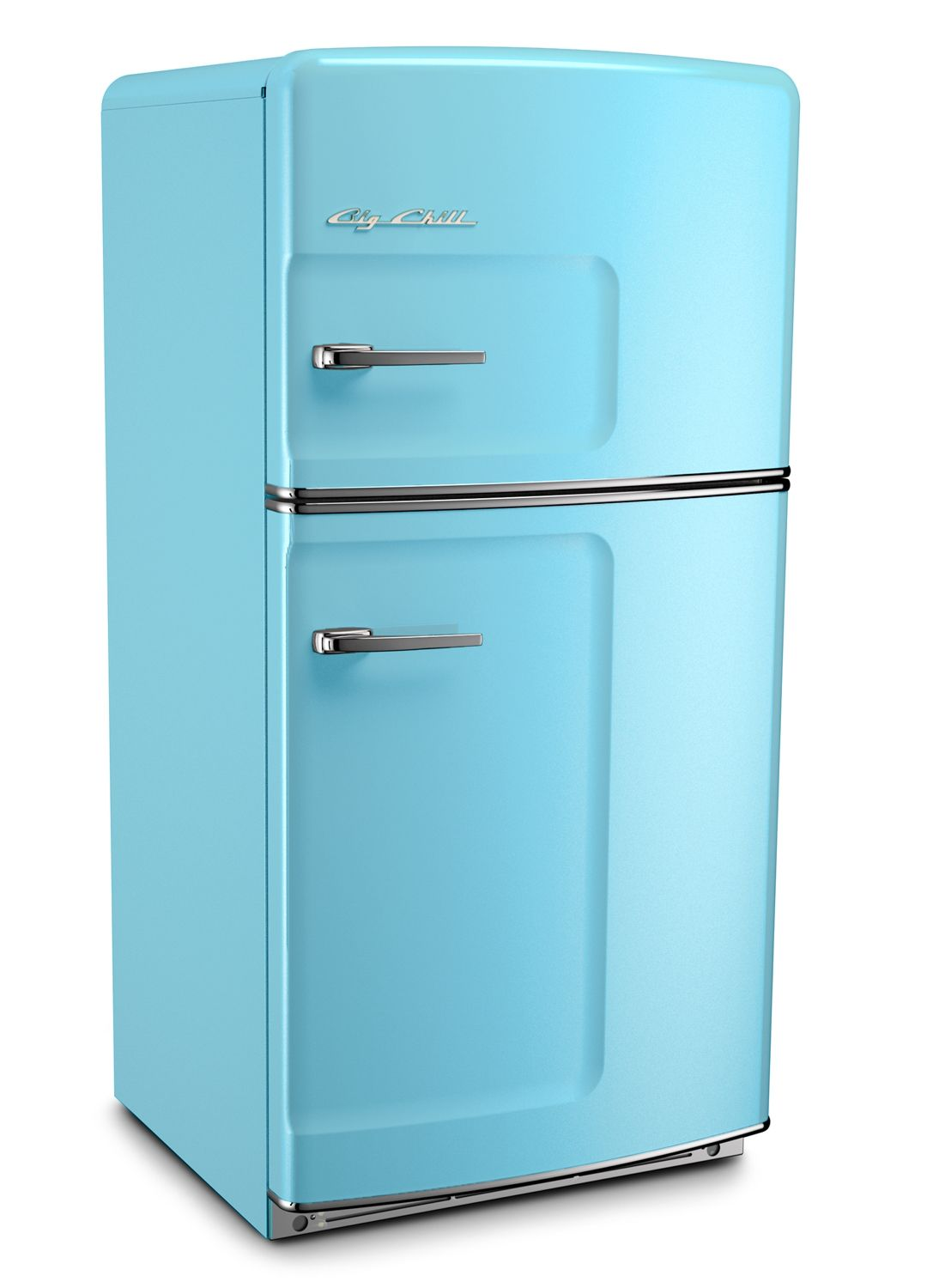blue retro fridge from big chill