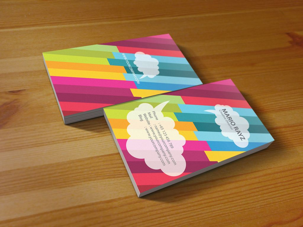 25 Colorful Business Cards | The Finished Box | Paper | Pinterest ...
