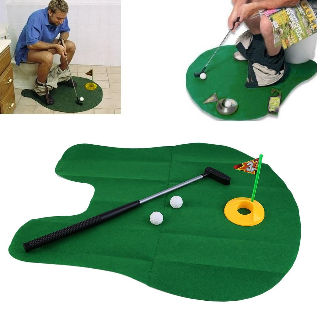 Game coolers for sale - Funny Potty Putter Toilet Time Mini Golf Game Novelty Gag Gift Toy Mat New
