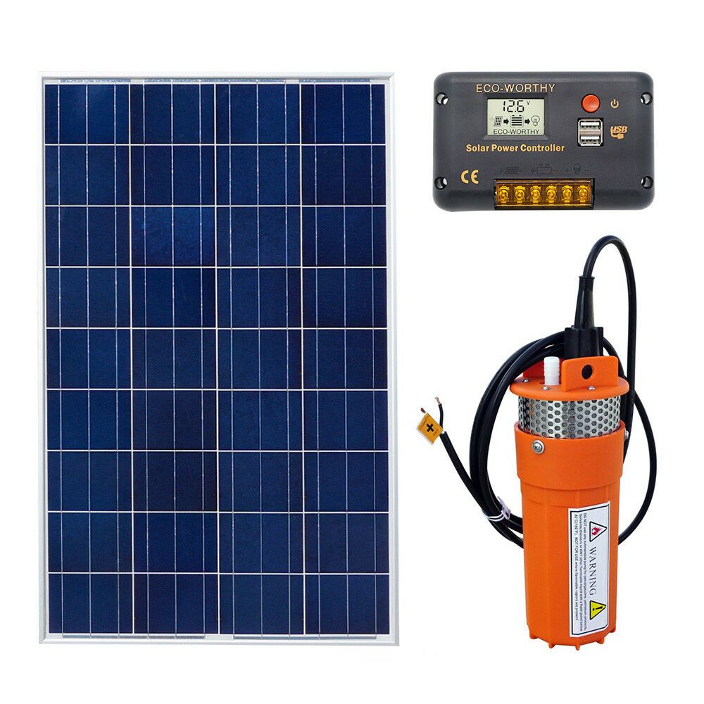 Ebay Sponsored 100w Solar Panel 12v Submersible Farm Water Pump Solar Powered Pump System Kit Solar Power Water Pumps Solar