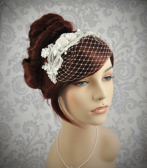 Wedding Hairstyle With Headband: Detachable, Headband Veil With French