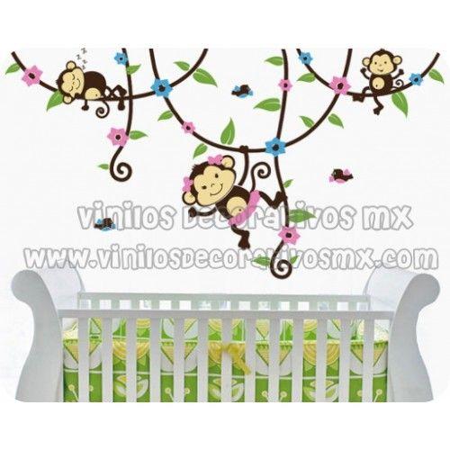 Vinil infantil de changuitos decoracion de habitacion para - Decoracion habitacion bebe vinilos ...