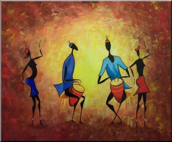 Peintures africaines african musicians pinterest - Africaine dessin ...