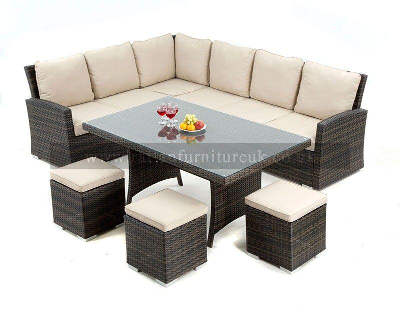 new for 2014 zebrano rattan have this amazing rattan garden corner sofa set that can be - Garden Furniture Dubai