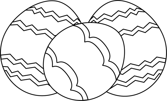 Three Black And White Easter Eggs Clip Art Three Black And White Easter Eggs Image Coloring Pages Clipart Black And White Clip Art