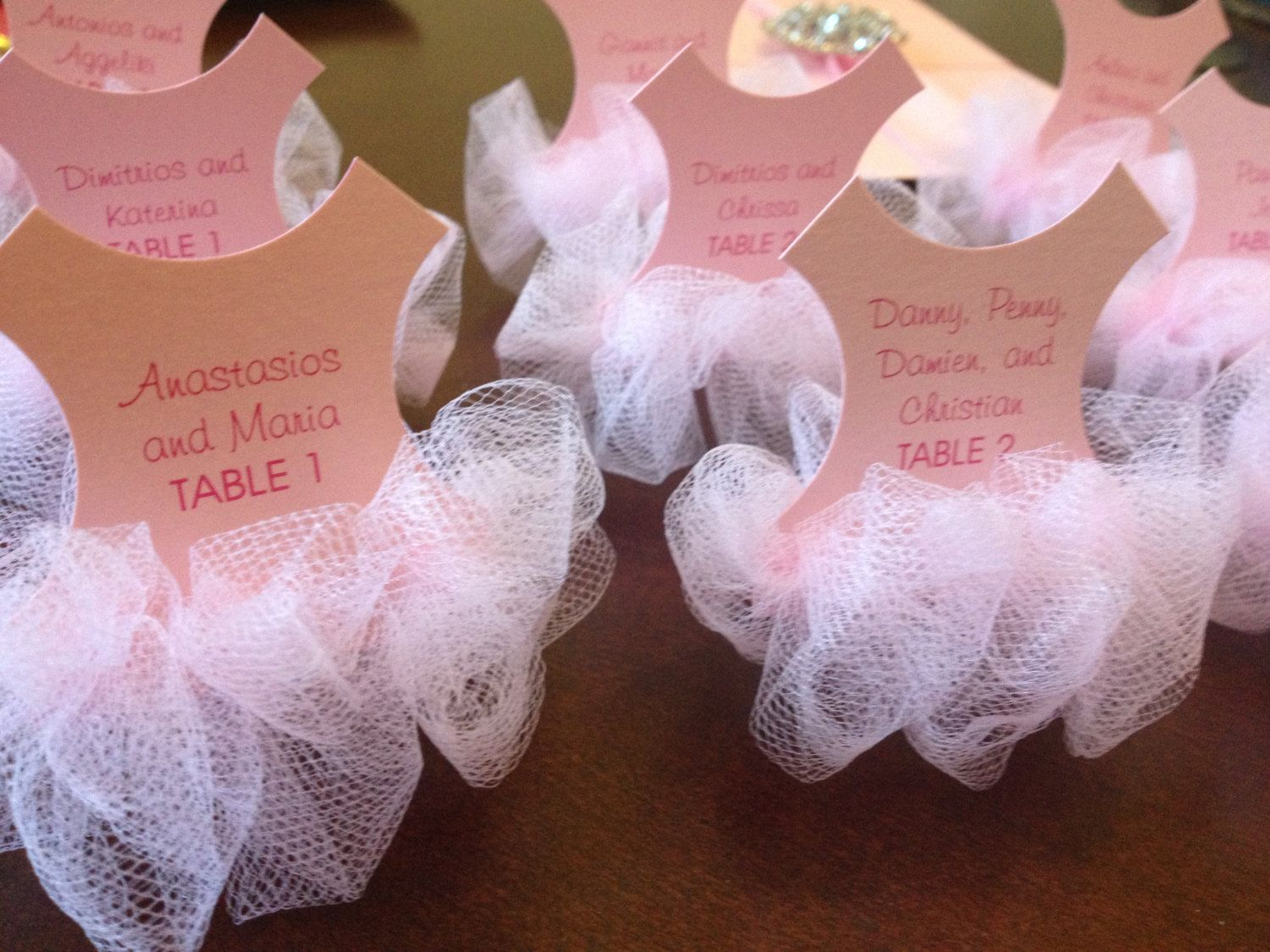 New To Anaderoux On Etsy: Tutu Place Cards   Tutu Baby Shower Invitation    Ballerina