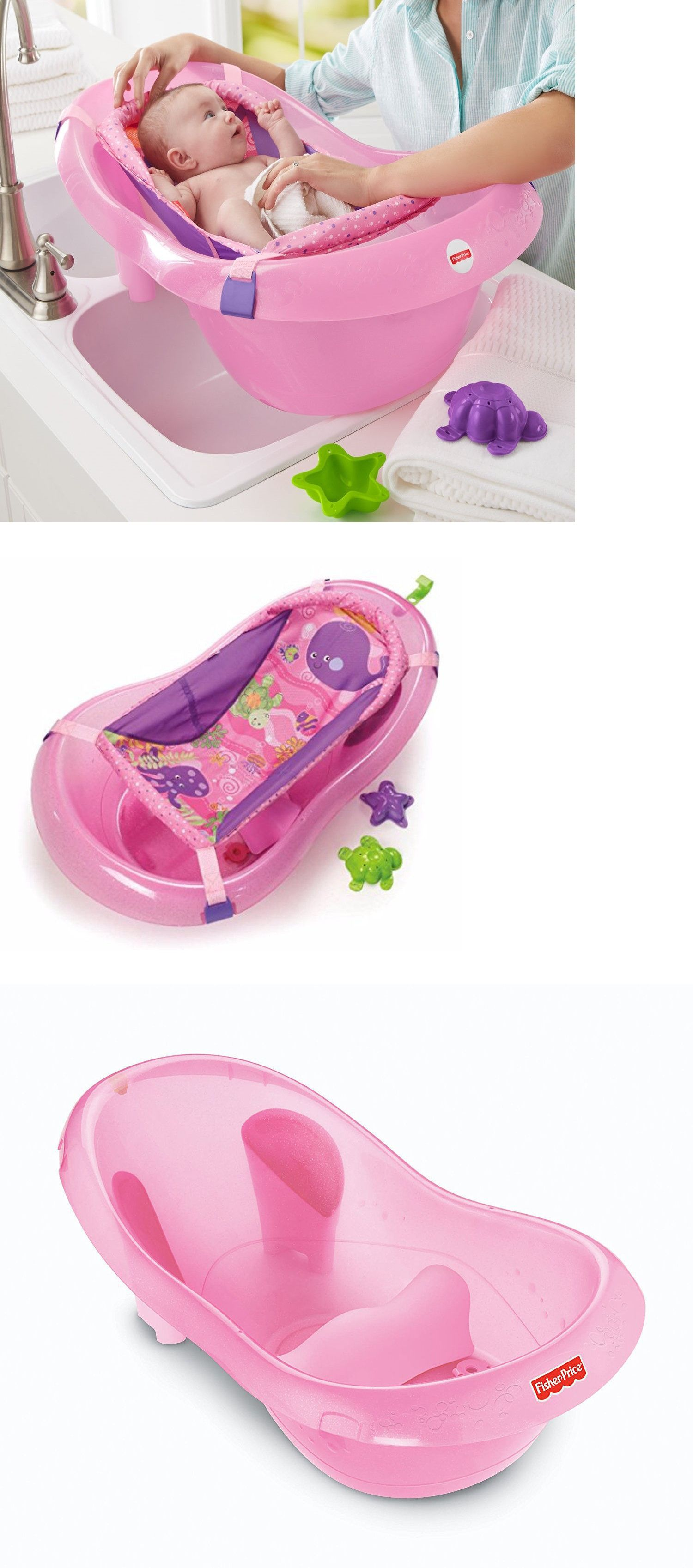 Fisher-Price Pink Sparkles Baby Barth Tub W3139-999A 5425   Fisher ...